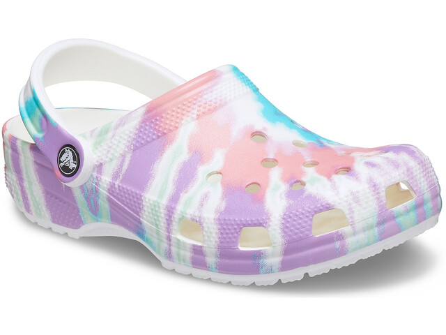 Crocs Classic Tie Dye Graphic Clogs Niños, fresco/multi
